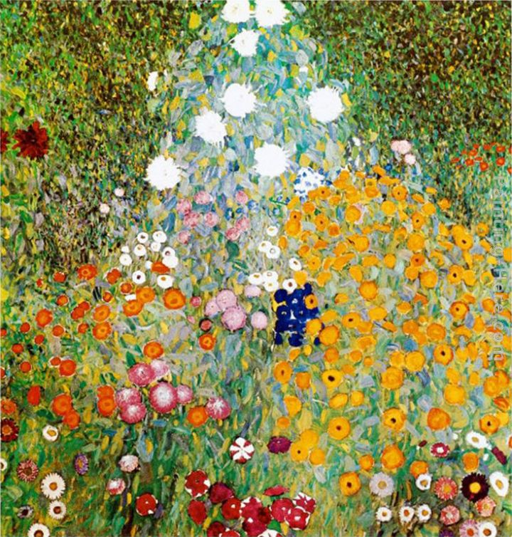 Superbe Flower Garden Painting   Gustav Klimt Flower Garden Art Painting