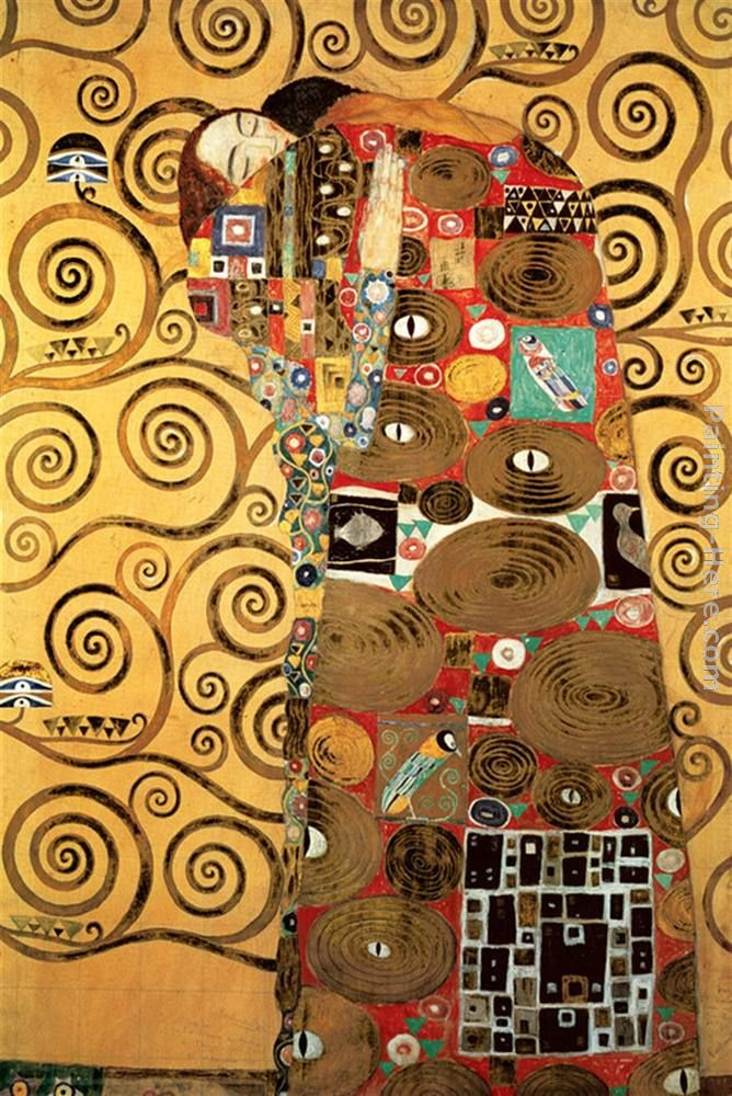 Fulfillment,Stoclet Frieze I painting - Gustav Klimt Fulfillment,Stoclet Frieze I art painting