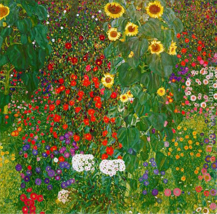 Garden With Sunflowers 1905 6 Painting Gustav Klimt