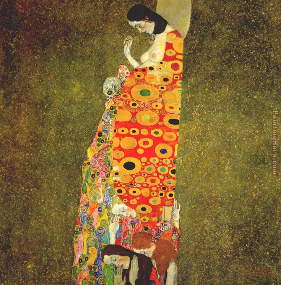Hope painting - Gustav Klimt Hope art painting