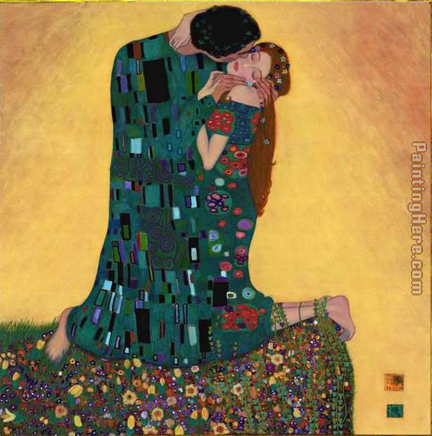 Kiss II painting - Gustav Klimt Kiss II art painting