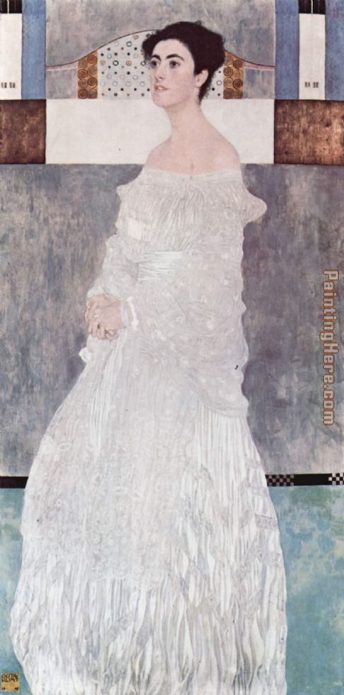 Portrait of Margaret Stonborough Wittgenstei painting - Gustav Klimt Portrait of Margaret Stonborough Wittgenstei art painting