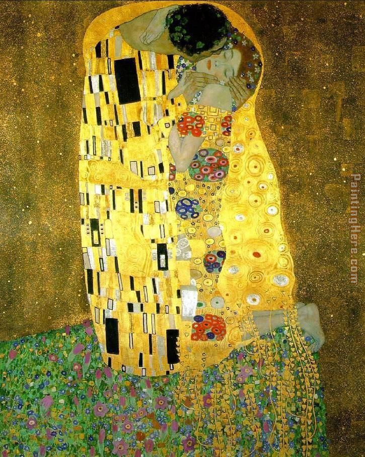 Gustav Klimt The Kiss (Le Baiser _ Il Baccio) Art Painting