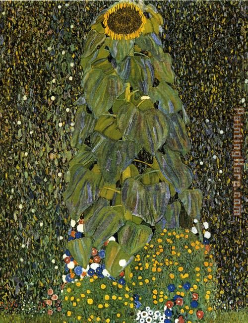 Gustav Klimt The Sunflower Art Painting