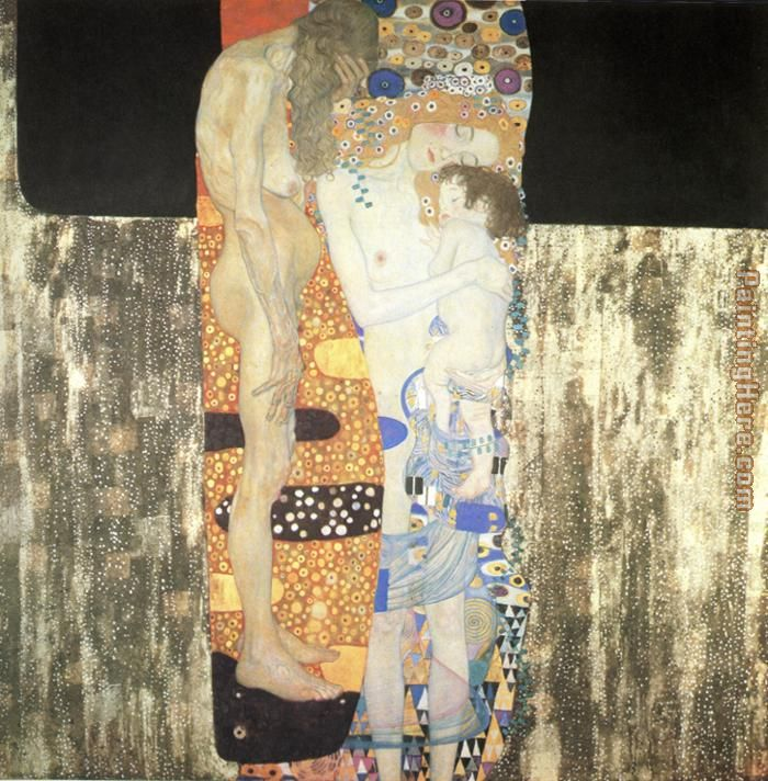 The Three Ages of Woman painting - Gustav Klimt The Three Ages of Woman art painting