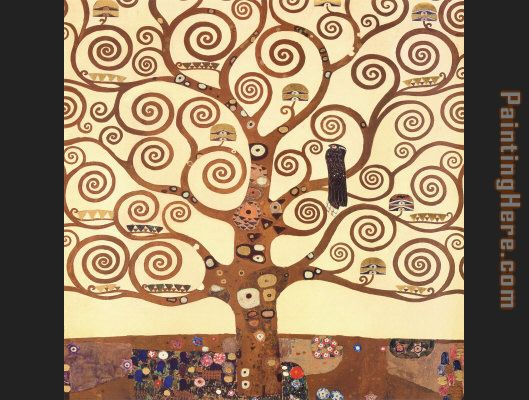 The Tree of Life Stoclet Frieze painting - Gustav Klimt The Tree of Life Stoclet Frieze art painting