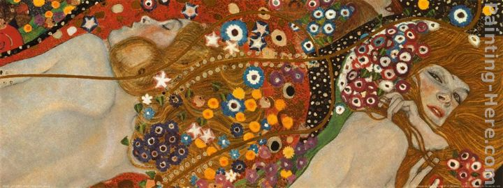 Water Serpents Detail painting - Gustav Klimt Water Serpents Detail art painting
