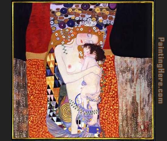 mother and child painting - Gustav Klimt mother and child art painting