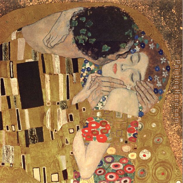 Gustav Klimt the kiss detail Art Painting