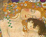 Three Ages of Woman - Mother and Child (Detail) by Gustav Klimt