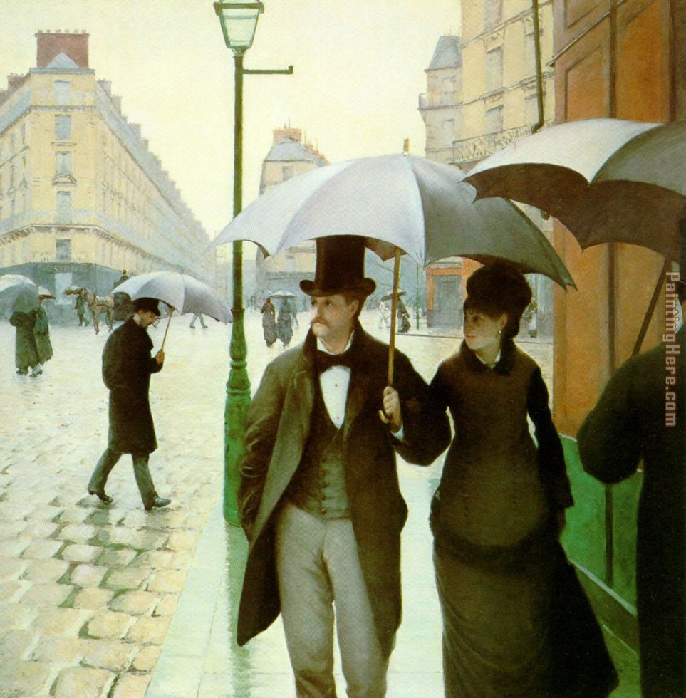 Gustave Caillebotte Paris Street rainy weather Art Painting