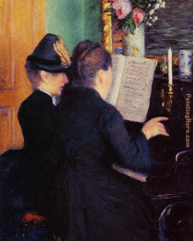 The Piano Lesson painting - Gustave Caillebotte The Piano Lesson art painting