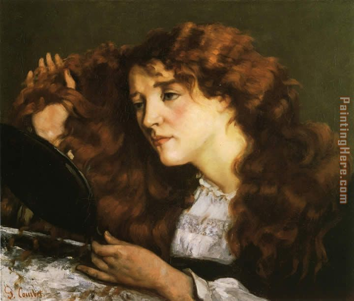 Portrait of Jo the Beautiful Irish Woman painting - Gustave Courbet Portrait of Jo the Beautiful Irish Woman art painting