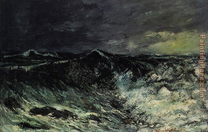 Gustave Courbet The Wave 2 Art Painting