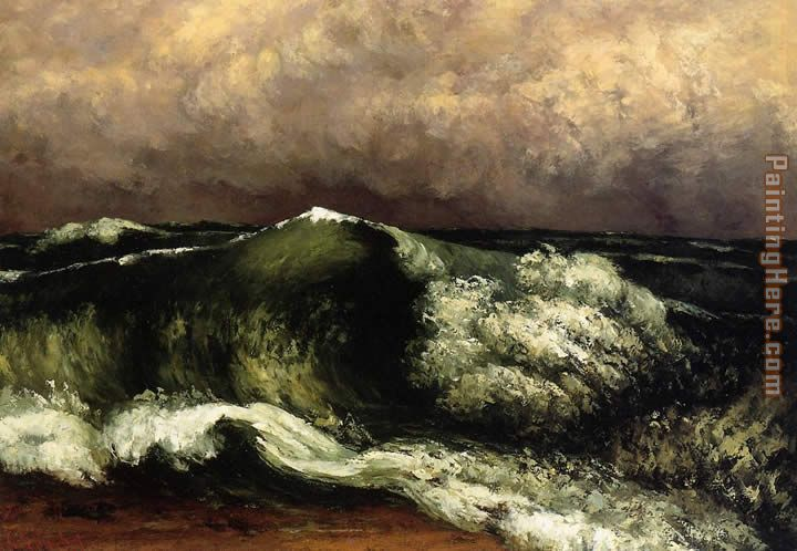 The Wave 4 painting - Gustave Courbet The Wave 4 art painting