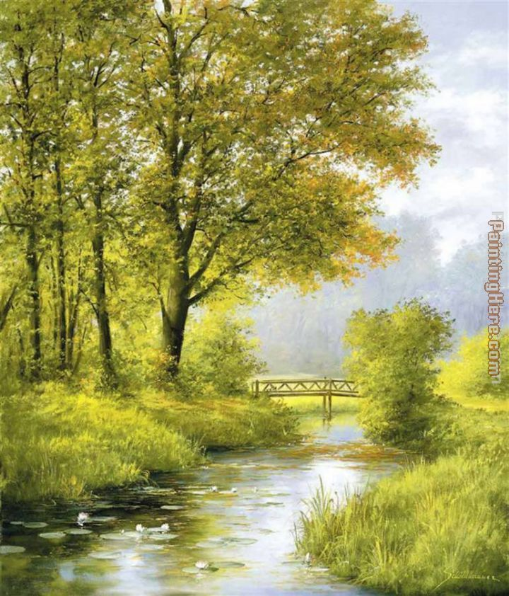 Dreamy Creek II painting - Heinz Scholnhammer Dreamy Creek II art painting
