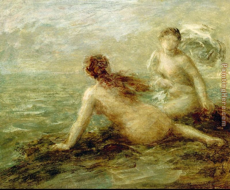 Bathers by the Sea painting - Henri Fantin-Latour Bathers by the Sea art painting