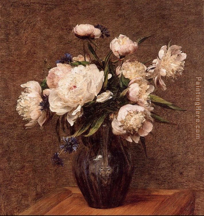 Bouquet of Peonies painting - Henri Fantin-Latour Bouquet of Peonies art painting