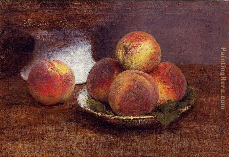 Bowl of Peaches painting - Henri Fantin-Latour Bowl of Peaches art painting