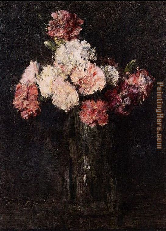 Carnations in a Champagne Glass painting - Henri Fantin-Latour Carnations in a Champagne Glass art painting