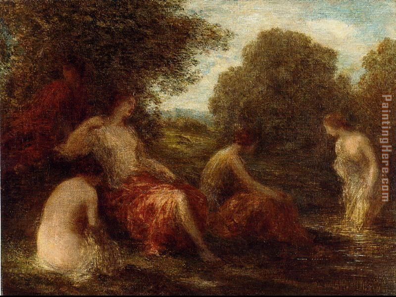 Diana and Her Handmaidens painting - Henri Fantin-Latour Diana and Her Handmaidens art painting