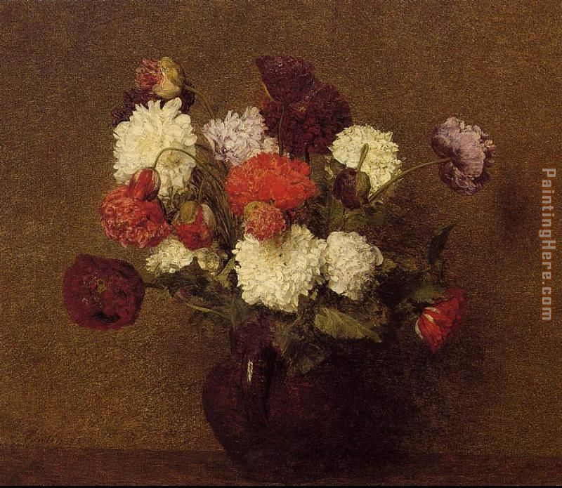Henri Fantin-Latour Flowers Poppies Art Painting
