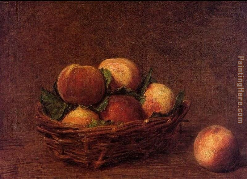 Henri Fantin-Latour Still Life with Peaches Art Painting