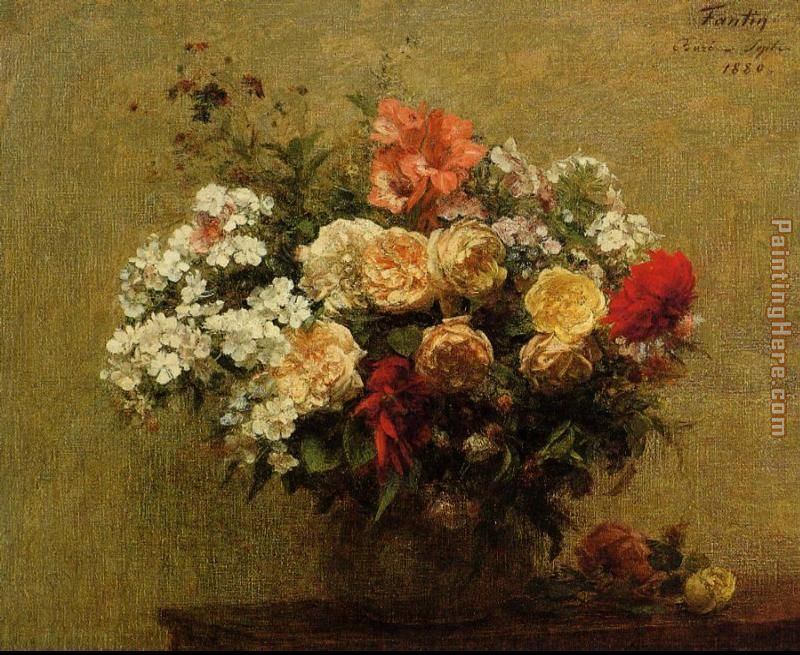 Summer Flowers painting - Henri Fantin-Latour Summer Flowers art painting