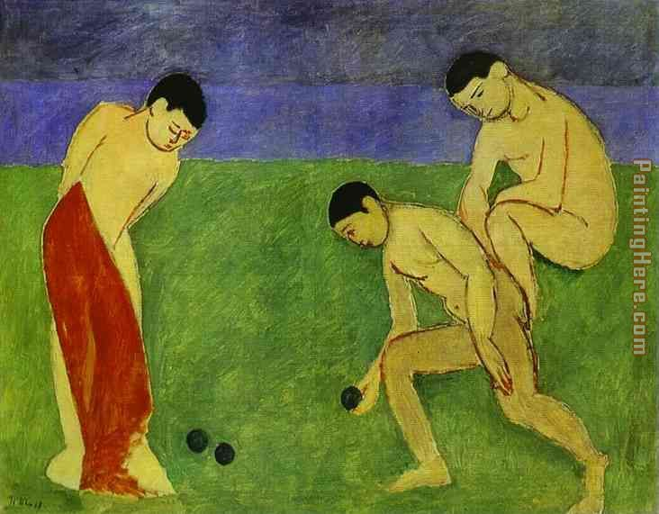 A Game of Bowls painting - Henri Matisse A Game of Bowls art painting