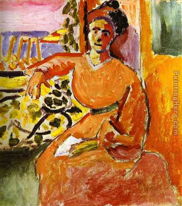 A Woman Sitting before the Window painting - Henri Matisse A Woman Sitting before the Window art painting