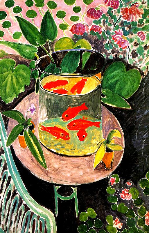 Goldfish painting - Henri Matisse Goldfish art painting