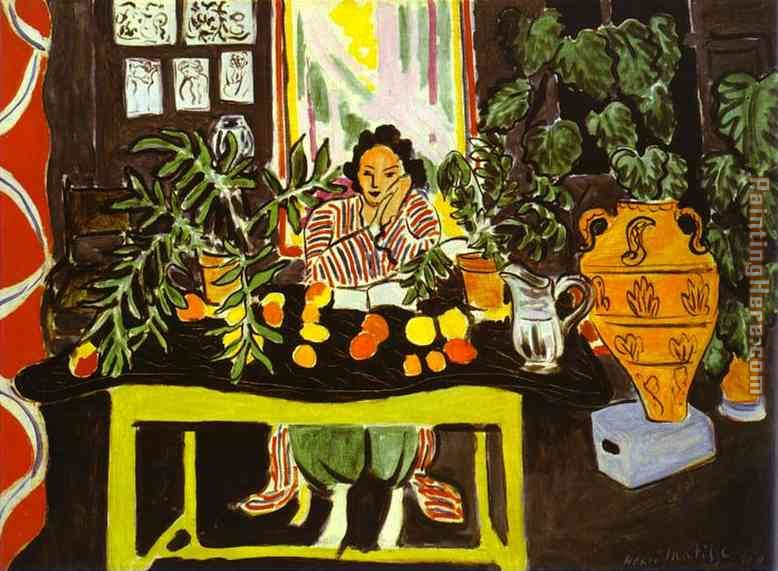 Henri Matisse Interior With Etruscan Vase Painting Anysize