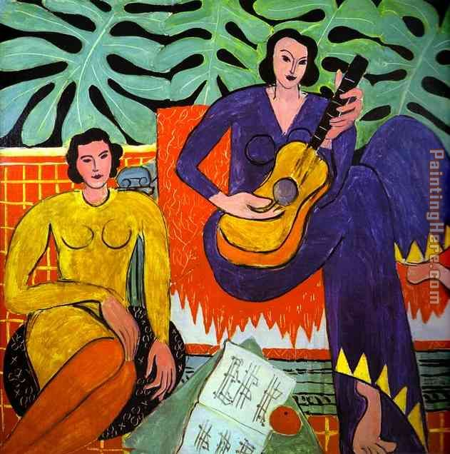 Music painting - Henri Matisse Music art painting