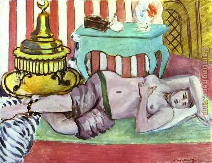 Henri Matisse Odalisque with Green Scarf Art Painting