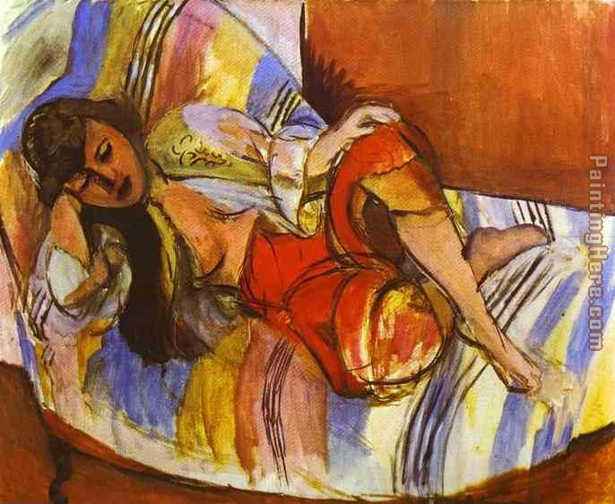 Odalisque painting - Henri Matisse Odalisque art painting