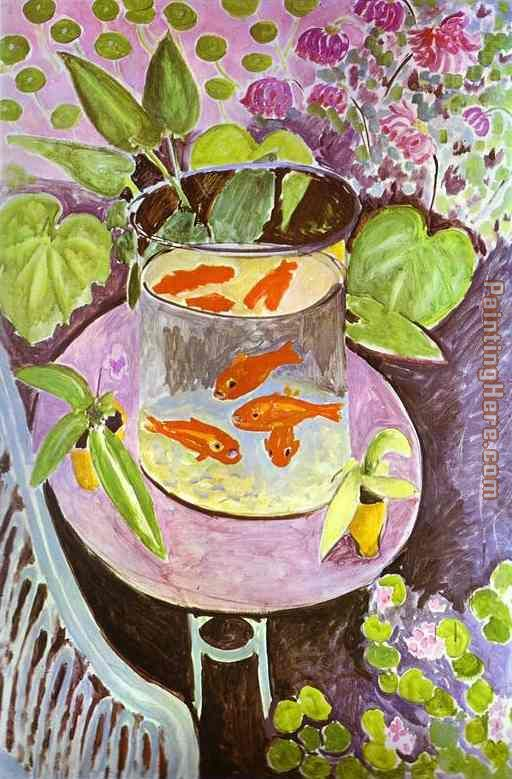 Red Fish painting - Henri Matisse Red Fish art painting