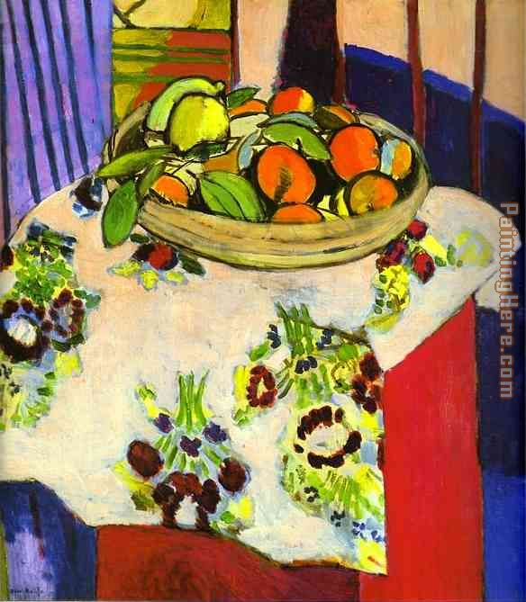 Henri Matisse Still Life with Oranges Art Painting