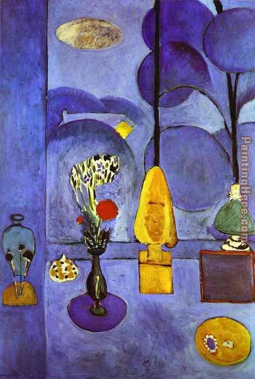 The Blue Window painting - Henri Matisse The Blue Window art painting