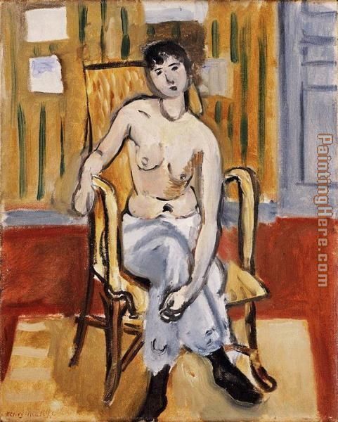 Henri Matisse seatd figure Art Painting
