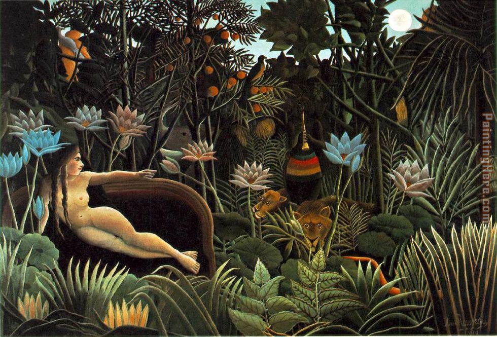 Henri Rousseau, Le reve (de Yadwiga?)