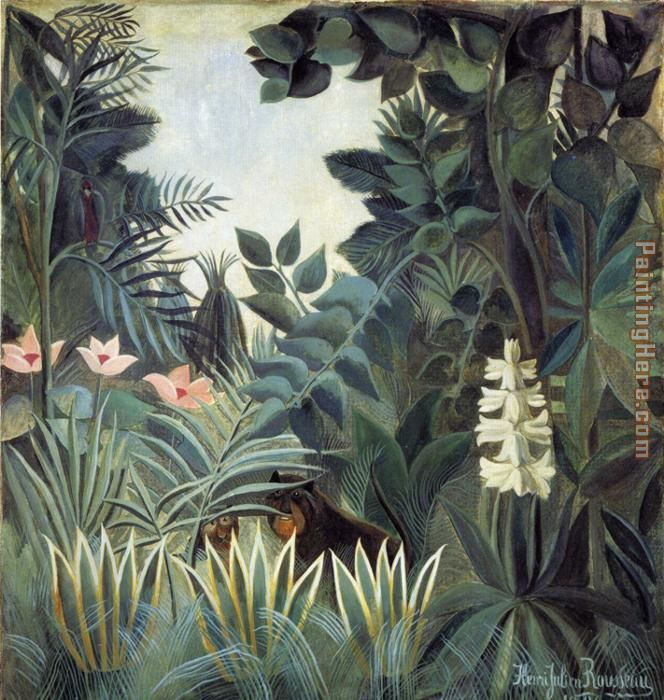 The Equatorial Jungle painting - Henri Rousseau The Equatorial Jungle art painting