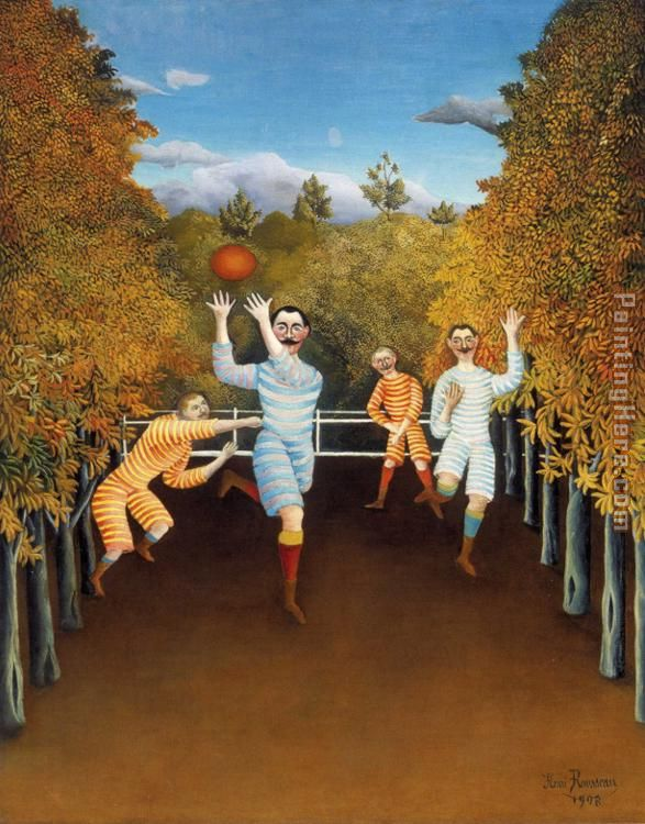 The Football Players painting - Henri Rousseau The Football Players art painting