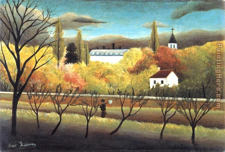 The Orchard painting - Henri Rousseau The Orchard art painting