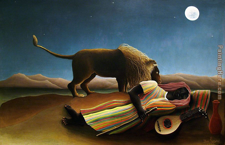 The Sleeping Gypsy painting - Henri Rousseau The Sleeping Gypsy art painting