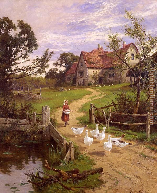 A Berkshire Homestead painting - Henry H. Parker A Berkshire Homestead art painting