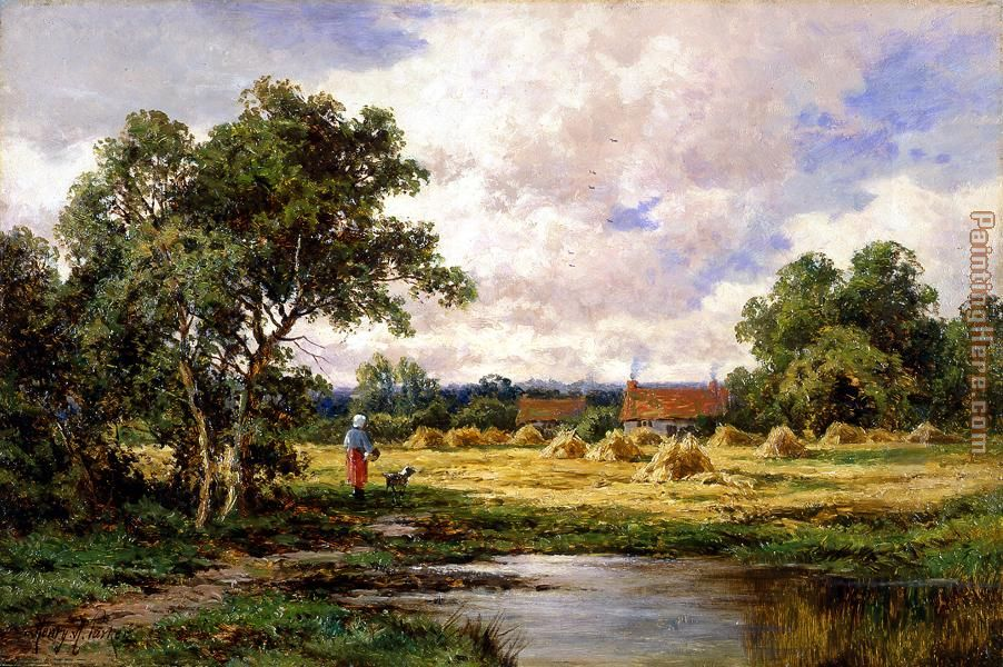 At Betchworth, Surrey painting - Henry H. Parker At Betchworth, Surrey art painting