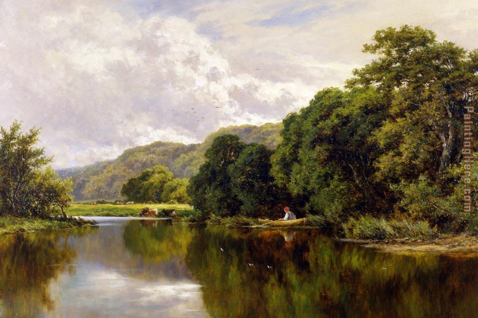 Henry H. Parker Nature's Mirror, on the Banks of the Thames Art Painting