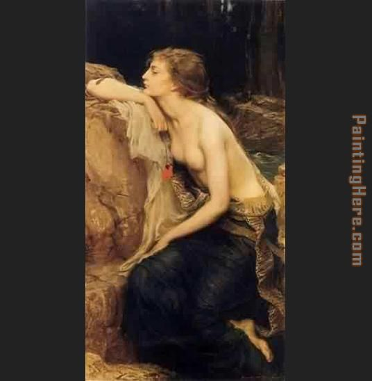 Lamia painting - Herbert James Draper Lamia art painting