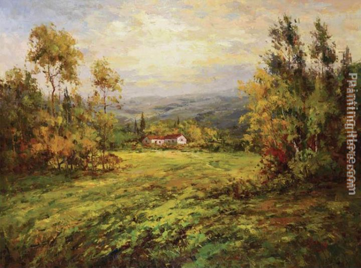 Italian Country Home painting - Hulsey Italian Country Home art painting