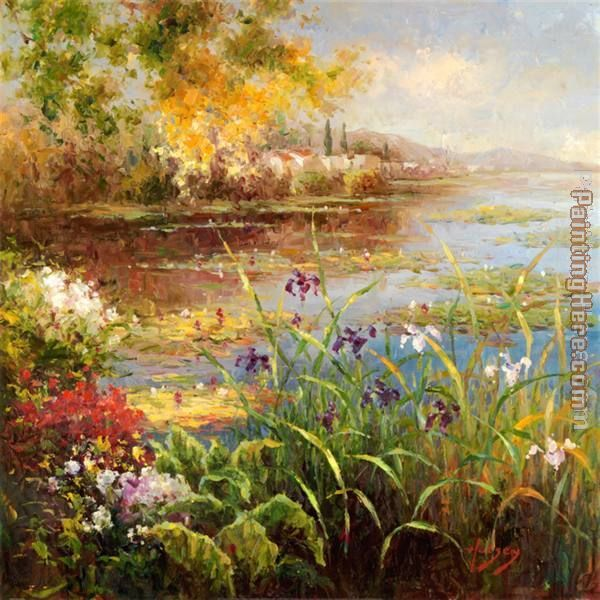 Village Pond painting - Hulsey Village Pond art painting